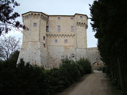 Castle of Fighine in the country near San Casciano dei Bagni
